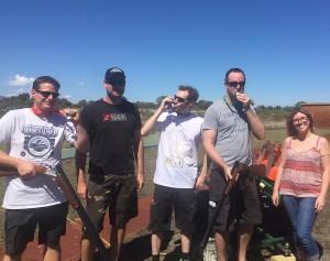Redballoon clay shooting group